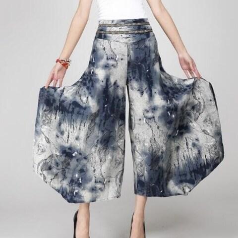 Tie-dye Strp Dress Wide Leg Pant for Women