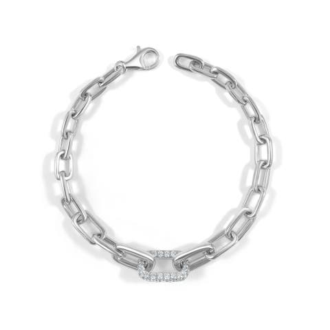 Diamond Link Bracelet 14K Gold 1 1/5 CT TDW by Joelle Collection