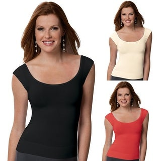 SPANX 1010 On Top and In Control Cap Sleeve Scoop Neck Top Layering Undershirt