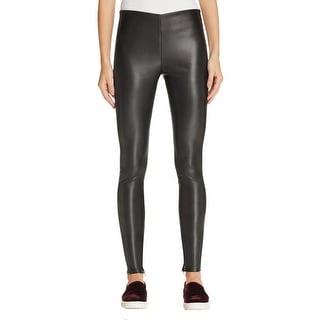 VELVET BY GRAHAM & SPENCER Womens Skinny Pants Faux Leather Ankle Zip