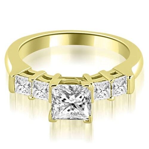 1.15 cttw. 14K Yellow Gold Princess Cut Diamond Engagement Ring