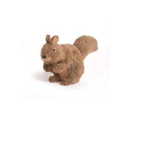 "11.5"" Country Cabin Jute and Sisal Squirrel with Acorn Christmas Table Top Decoration - brown"