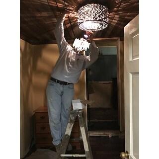 Inca Bronze 7-light Flush Mount Ceiling Light