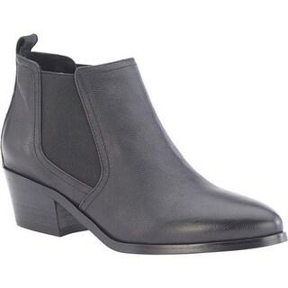 David Tate Women's Maxie Chelsea Boot Black Mini Pebble Grain