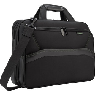"Targus TBT256 Targus Spruce Carrying Case (Briefcase) for 16"" Notebook - Black - Drop Resistant - Checkpoint Friendly -"