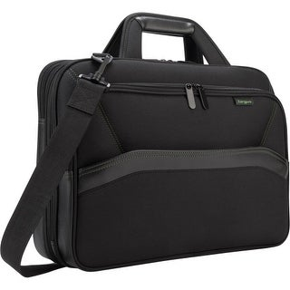 "Targus Targus EcoSmart Topload, Black Targus Spruce Carrying Case (Briefcase) for 16"" Notebook - Black - Drop Resistant -"
