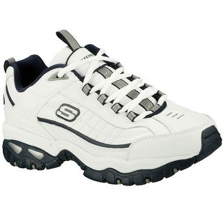 Skechers Men's Energy After Burn,White/Navy