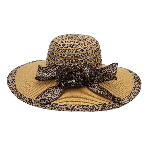 Shop Chic Headwear Floppy Hat w  Cheetah Print - One Size - Free Shipping  On Orders Over  45 - Overstock.com - 27078665 b84494eb430