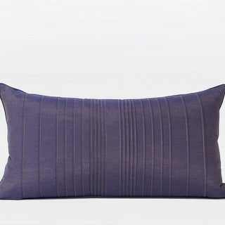 "G Home Collection Luxury Purple Striped Textured Pillow 12""X22"""