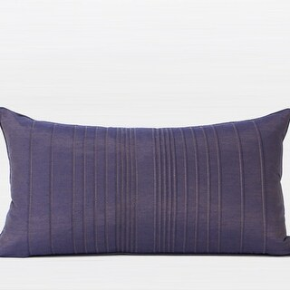 """G Home Collection Luxury Purple Striped Textured Pillow 12""""X22"""""""