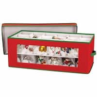 Christmas Ornament Storage Chest Red and Green