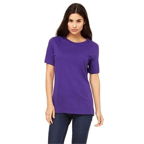Bella 6400 Womens Relaxed Jersey Short Sleeve Tee - Team Purple Extra Large