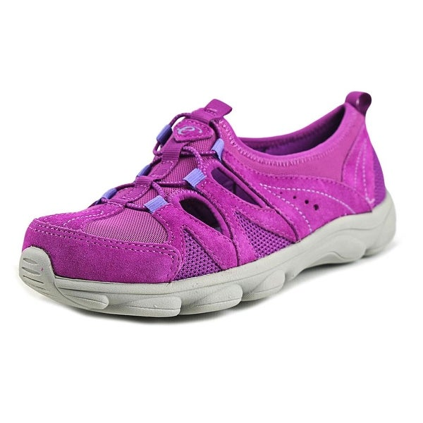 Easy Spirit e360 Realflex Women W Round Toe Suede Purple Sneakers