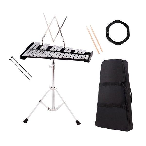 Shop Costway Percussion Glockenspiel Bell Kit 30 Notes w