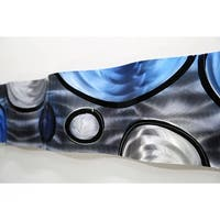 Statements2000 Blue / Silver / Charcoal Abstract Metal Wall Art Accent Wave by Jon Allen - Rains of Blue Wave