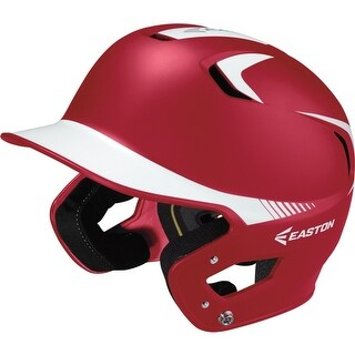 Easton Senior Z5 Grip 2Tone Batters Helmet (Red/White)