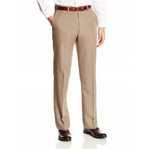 Haggar Mens Aclo Tonal Tic Weave Dress Pants Slacks