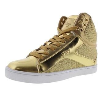 Pastry Womens Pop Tart Patent Metallic Fashion Sneakers - 6.5 medium (b,m)