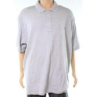 Polo Ralph Lauren Heather Gray Men Size 2XLT French Terry Polo Shirt