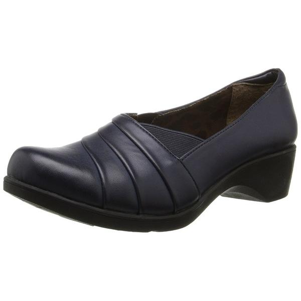 Soft Style NEW Blue Navy Kambra Size 7M Stretch Slip Ons Shoes