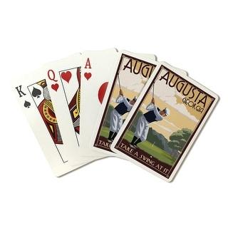 Augusta, Georgia - Take a Swing at It - Lantern Press Artwork (Playing Card Deck - 52 Card Poker Size with Jokers)