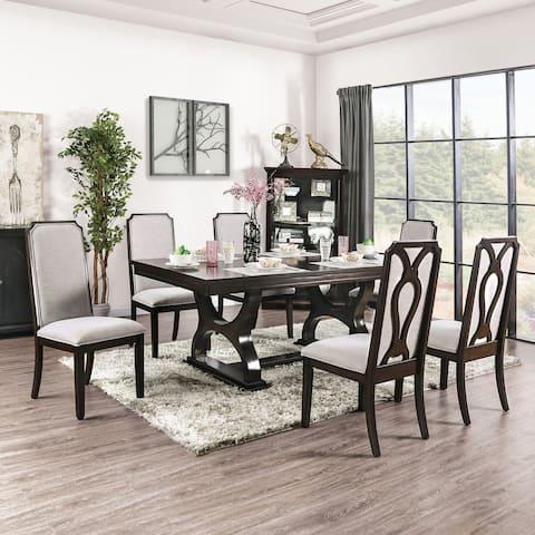 Furniture of America Cope Transitional Espresso 7-piece Dining Set