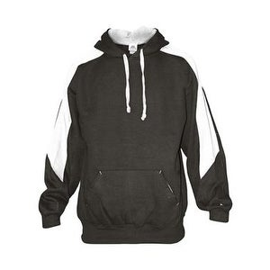 Badger Saber Hooded Sweatshirt - Charcoal/ White - XS
