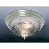 """Volume Lighting V7712 2 Light 13"""" Flush Mount Ceiling Fixture with Clear Swirl R"""