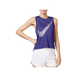 Nike Womens Dry Tank Top Metallic Running