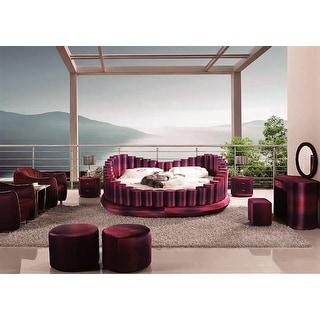 Luxury Design ombre edge purple round bed king