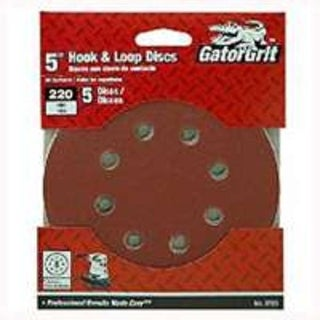 "Gator 3721 8-Hole Hook & Loop Sanding Disc 5"", 220 Grit"