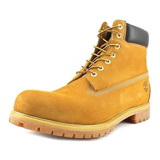 "Timberland 6"" Premium Boot Men Round Toe Suede Tan Work Boot"