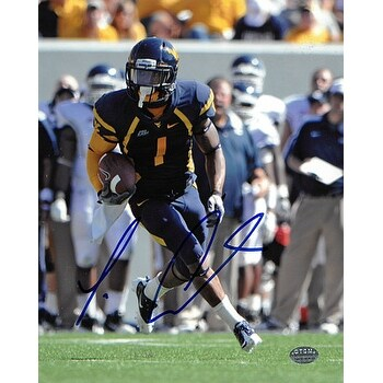buy online 3c046 e6bf1 Tavon Austin signed West Virginia Mountaineers 8x10 Photo navy jersey  Austin Hologram