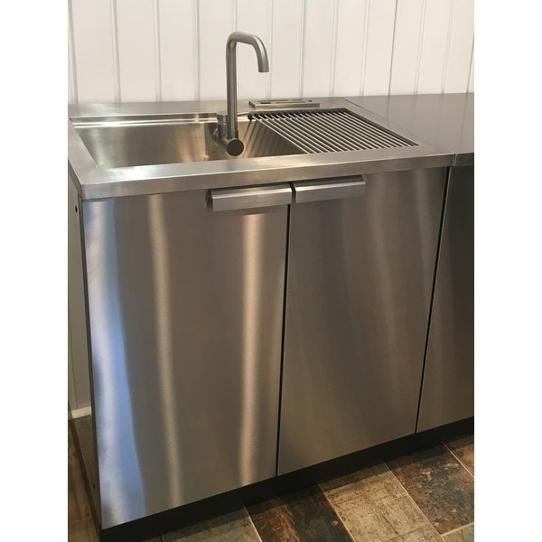 Newage Products Outdoor Kitchen 32 W X 24 D Sink Cabinet Free Shipping Today 12017818