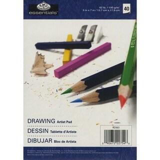 "Essentials Drawing Artist Paper Pad 5""X7""-40 Sheets"