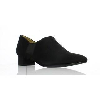 Trotters Womens Lillian Black Suede Flats Size 7.5 (AA,N)