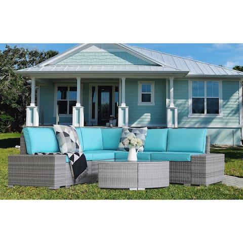 6 PCs Outdoor Patio Sofa Furniture