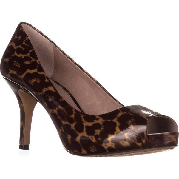 Vince Camuto Kira Peep-Toe Pumps, Leopard Patent - 8.5 us / 38.5 eu