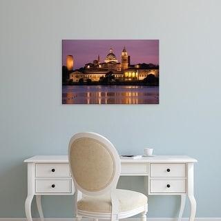 Easy Art Prints Walter Bibikow's 'Mantua Town View' Premium Canvas Art