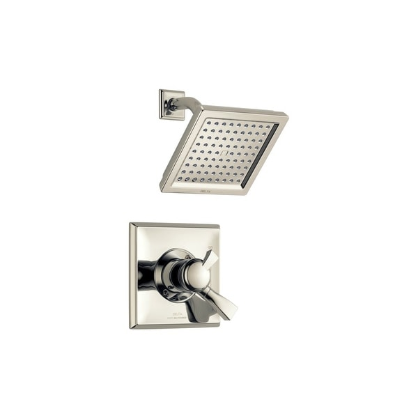 Delta T17251-WE Dryden Pressure Balanced Shower Only Trim Package with 1.75 GPM Single Function Shower Head and Touch Clean