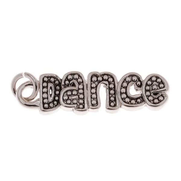 Antiqued Silver Tone Studded 'Dance' Charm 20mm (1)