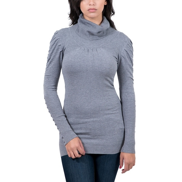 Maglierie Di Perugia Grey Roll Neck Tunic Sweater