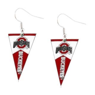 Ohio State Buckeyes NCAA Pennant Dangle Earring