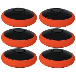 Sunnydaze Tabletop Air Hockey Electronic Rechargeable Hover Puck - Set of 6 - Orange