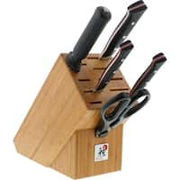 Miyabi Red Morimoto Edition 6-pc Knife Block Set - Black w/Red Accent/Stainless Steel