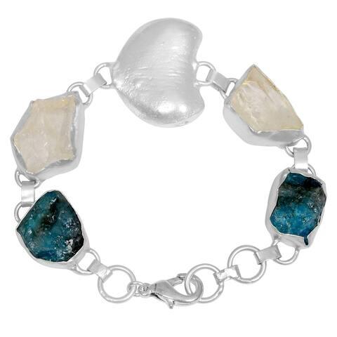 Apatite Brass Fancy Fashion Bracelet by Fashionablez