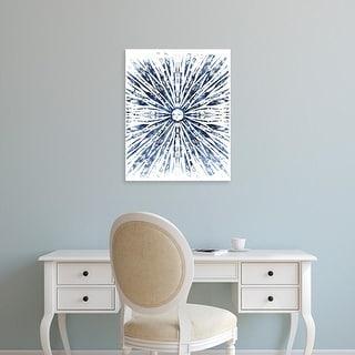 Easy Art Prints June Erica Vess's 'Indigo Ink Motif VIII' Premium Canvas Art
