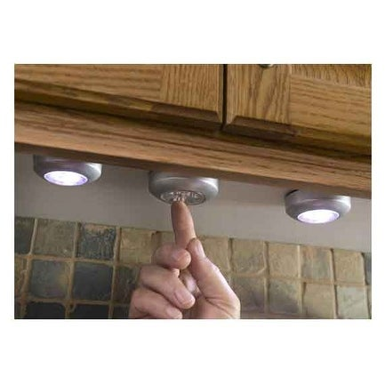 Techno Earth 3 Pack of Touch, Push Led lights for Cabinets, Closets, Counters, Utility Room etc..