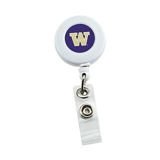 Washington Huskies Retractable Badge Reel Id Ticket Clip NCAA