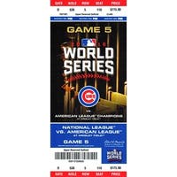 Chicago  Cubs 2016 World Series Game 5 14x6 Mini Mega Ticket